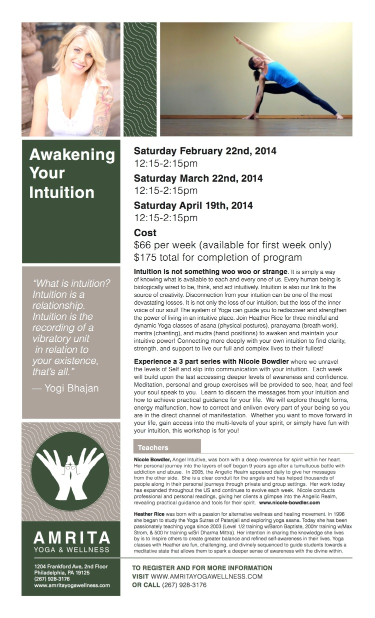 awakening your intuition flyer