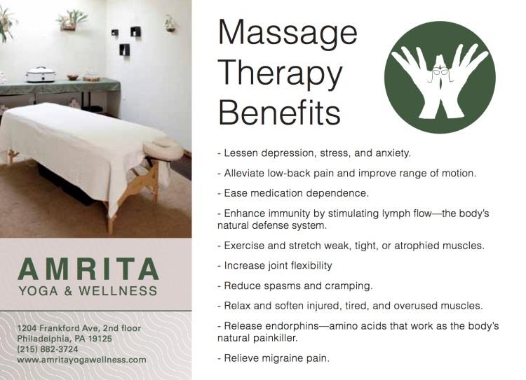massage promo card back